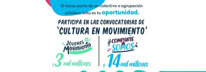 """Participa en las convocatorias """"Jóvenes en Movimiento"""" y """"Comparte lo que Somos"""" de MinCultura"""